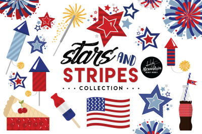 Stars and Stripes Graphics & Patterns Bundle