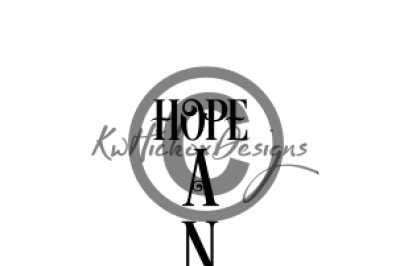 Vertical Sign Svg, Eps, Dxf File, Hope Anchors The Soul Svg