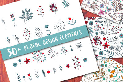 Vector Floral Branches and Patterns