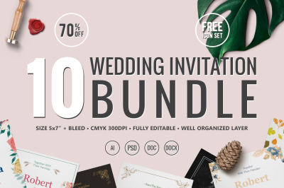 10 Wedding Invitations