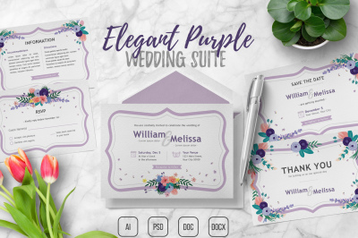 Elegant Purple Wedding Suite