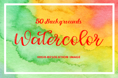 50 Watercolor Backgrounds 05
