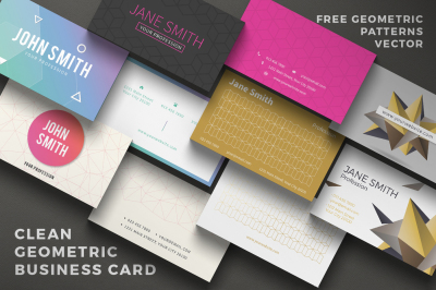 5 Clean Geometric Business Card
