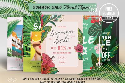 5 Summer Sale Floral Flyers