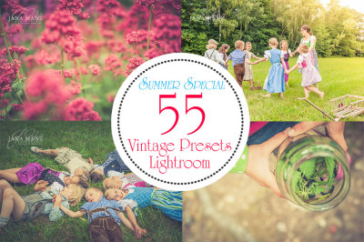 Special Bundle: 55 Lightroom Vintage Presets