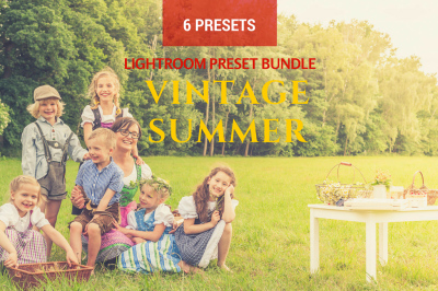 6 Summer Vintage Lightroom Presets