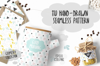 110 Hand-Drawn Geometric Patterns