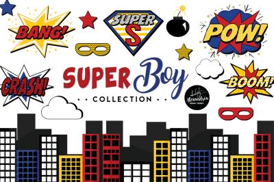 SuperBoy Graphics & Patterns Bundle