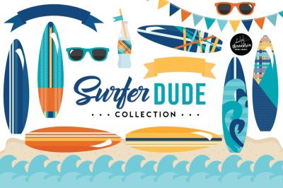 Surfer Dude Graphics & Patterns Bundle