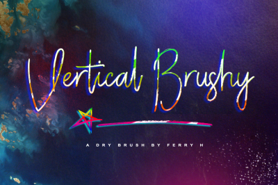 Vertical Brushy - Dry Brush Typeface
