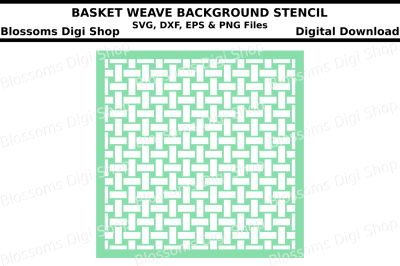 Basket weave background stencil SVG, DXF, EPS and PNG files