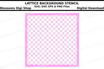 Lattice background stencil SVG, DXF, EPS and PNG files