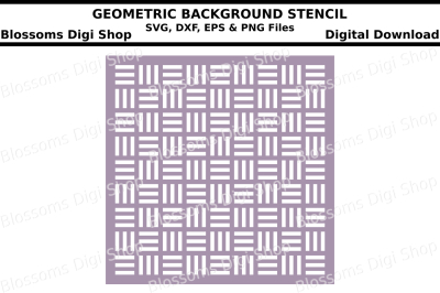 Geometric background stencil SVG, DXF, EPS and PNG files