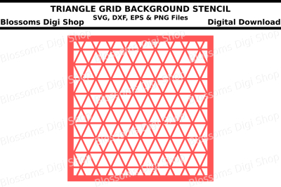Triangle grid background stencil SVG, DXF, EPS andPNG files
