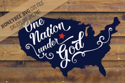 One Nation Under God Map cut file