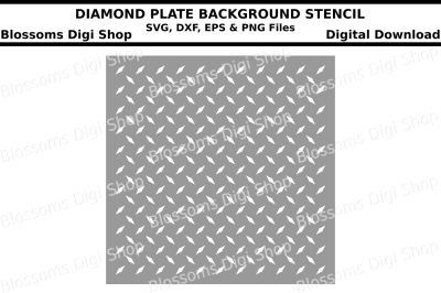 Diamond plate background stencil SVG, DXF, EPS and PNG files