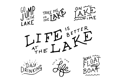 Lake Life Lettering Pack
