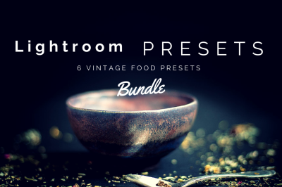 6 Lightroom Presets Vintage Food Photos