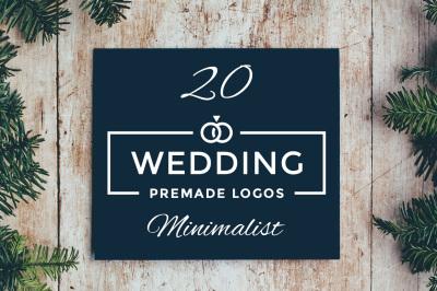 20 Minimalist Wedding Logo Template