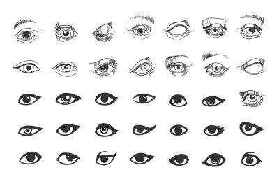Vector eyes symbols