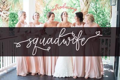 Squadwife Script Font