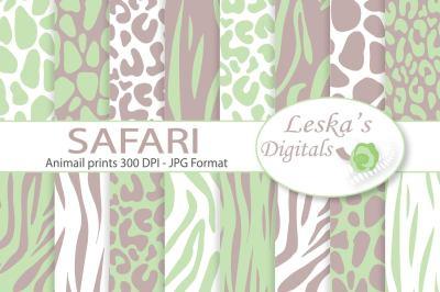 Animal Prints - Safari Digital Paper
