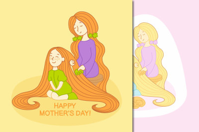 Vector Mother's Day Cards