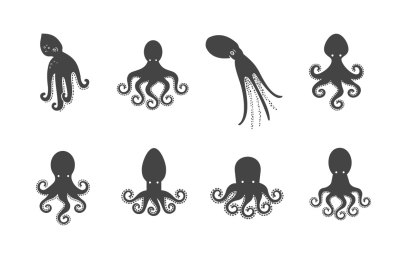 Octopus logo set