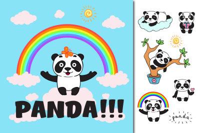 Panda set + cards