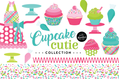 Cupcake Cutie Graphics & Patterns Bundle