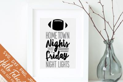 Football Hometown Lights SVG Cutting Files