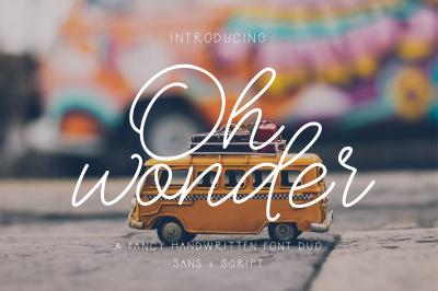 Oh Wonder Font + Bonus Font & Logo