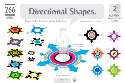 Icon Builder. 266 Directional Shapes