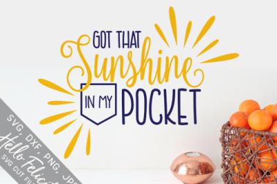 Sunshine In My Pocket SVG Cutting Files