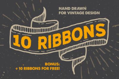 10 Vintage Ribbons