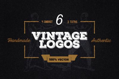 6 Vintage logos + Graphics