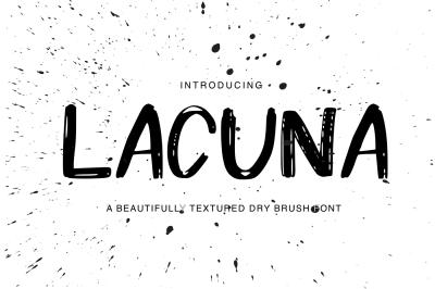 Lacuna Font + Bonus Splatters