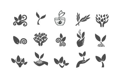 Vector plant and sprout icons
