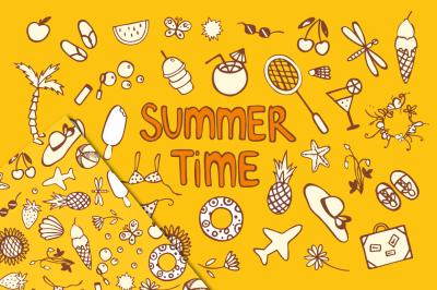 Summer time icons + pattern