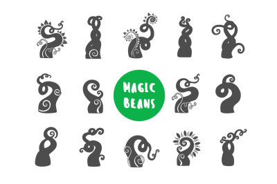 Magic Bean illustration icon set