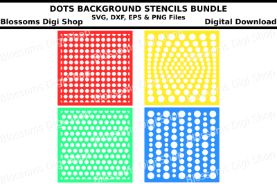 Dots background stencil bundle SVG, DXF, EPS and PNG files