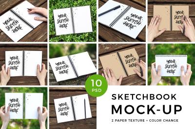 Sketchbook PSD Mockup