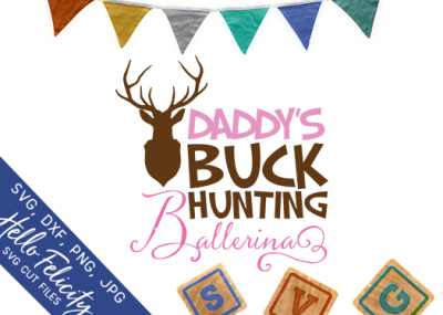 Buck Hunting Ballerina SVG Cutting Files
