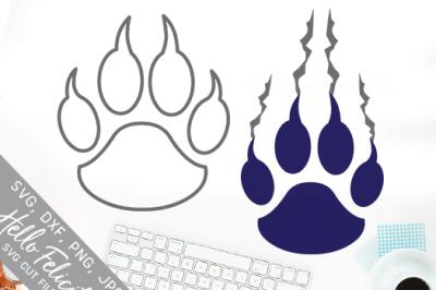 Claw Paw Print Sports Teams SVG Cutting Files