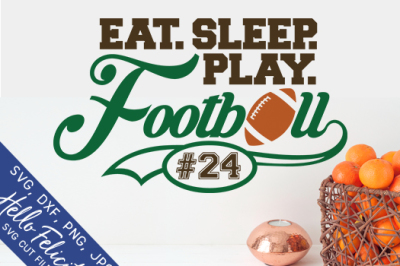 Football Eat Sleep Play Monogram SVG Cutting Files