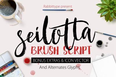 Seilotta Brush Script OFF 75%
