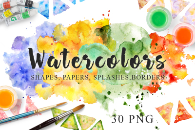 Watercolor Texture Clipart Watercolor background Hand drawn Watercolor clipart Digital paper Watercolor splashe Blot Drop Scrapbooking PNG