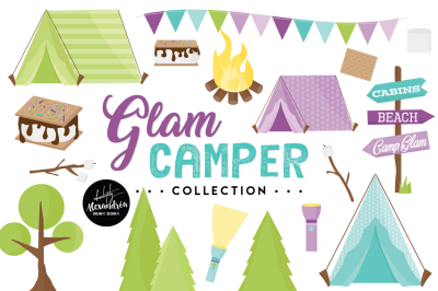 Glam Camper Graphics & Patterns Bundle