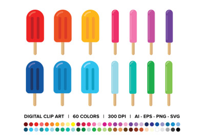 Popsicles & Ice Pops Clip Art Set