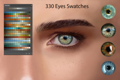 Eyes Swatches for Digital Painting